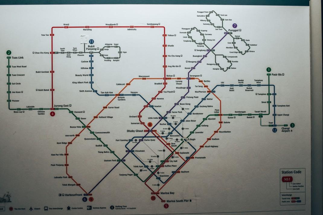 Linia metra w Singapurze