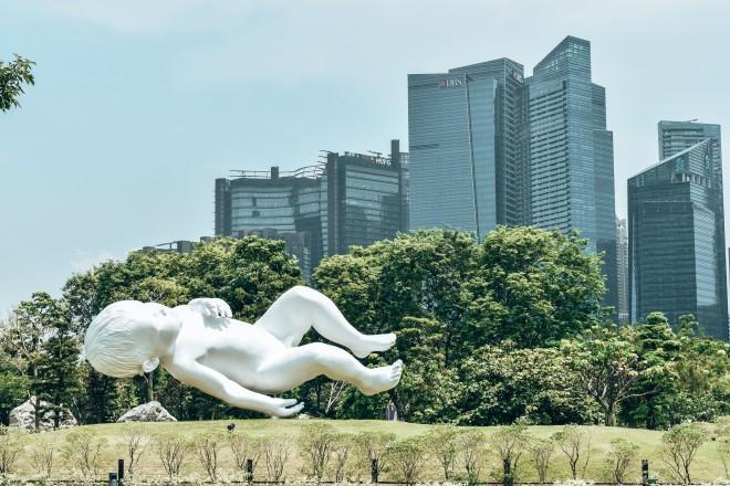 Rzeźby w Gardens by the Bay