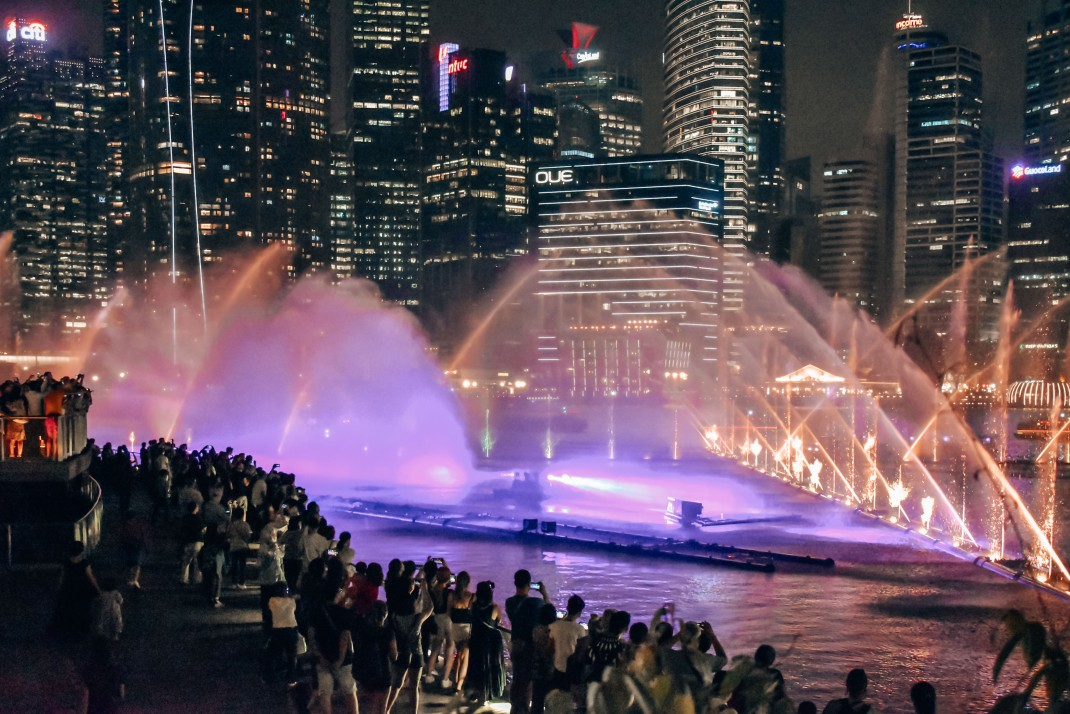 Pokaz fontann w Singapurze