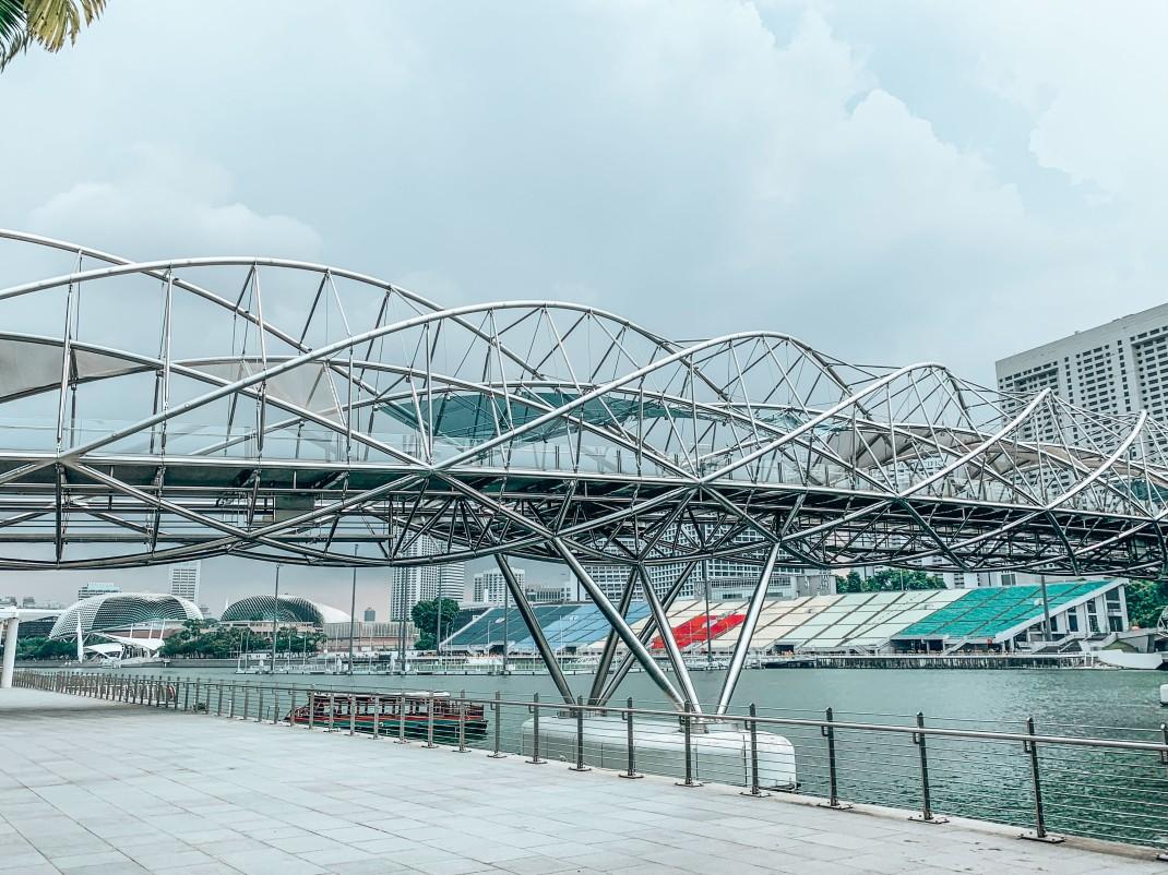 Helix Bridge - totalnie trzeba zobaczyć w Singapurze