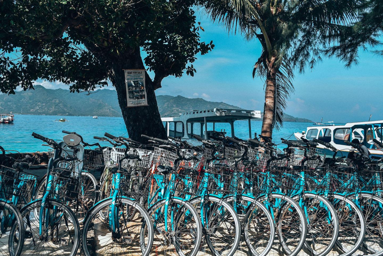 Gili Air — głównym środkiem transportu na wyspie jest rower